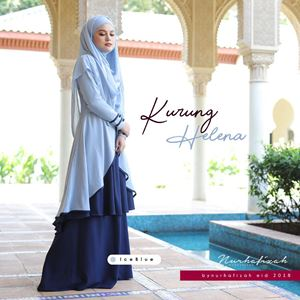 KURUNG HELENA ( ICE BLUE  )