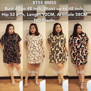 ET55 *Ready Stock* Bust 40 to 48inch/102-121cm