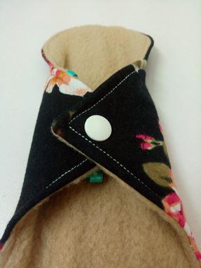 Panty Liner black floral