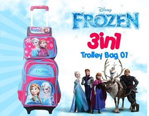 FROZEN 3IN1 TROLLEY 01 BACKPACK SET