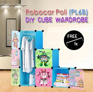 ROBOCAR POLI BLUE 6C DIY WARDROBE (PL6B)