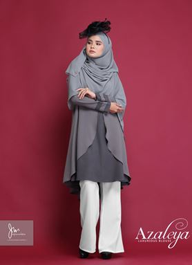 AZALEYA LUXURIOUS BLOUSE ( Jade Grey )