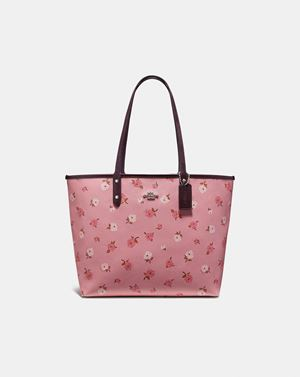 COACH Reversible City Tote With Tossed Peony Print