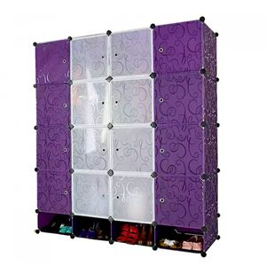 DIY 16Cube wardrobe + Shoe Rack ( Purple )