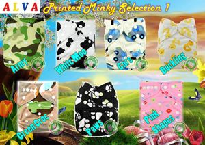 Alva Baby Diaper (Printed Minky-Normal printing)