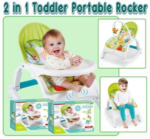 2 in 1 Toddler Portable Rocker