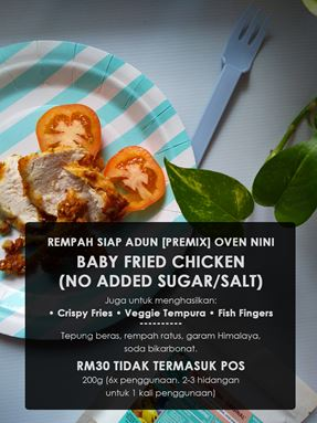Baby -  Fried Chicken Original/ Tempura/  Fries/ Jejari Ikan Rangup
