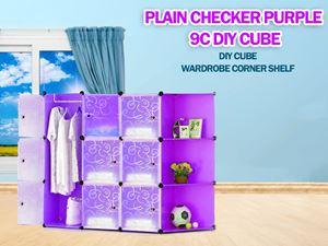 Plain Purple 9C DIY Cube w Corner Rack (PP9CR)