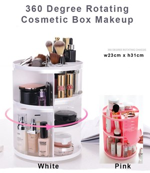 360 Degree Rotating Cosmetic Box Makeup corner