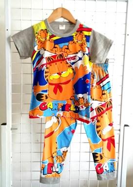 Pyjamas Short Sleeve GARFIELD RELAX Grey (Kids 2 -8)