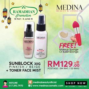 Sunblock 30g + Toner Face Mist