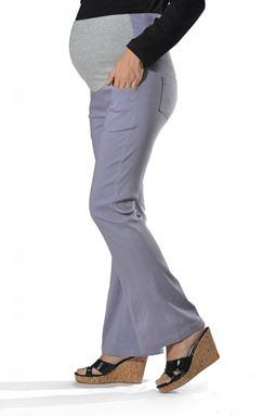 Maternity Bell Bottom Pant Mi - Grey
