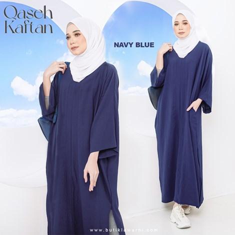 QASEH KAFTAN NAVY BLUE