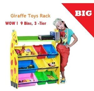 Giraffe Storage Rack@Multipurpose Rack@Toys Rack with 9Bins (3Big + 6small)