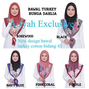 BAWAL TURKEY COTTON BUNGA DAHLIA (BORONG)