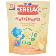 Nestlé Cerelac NutriPuffs Banana & Orange Cereal Snacks 50g