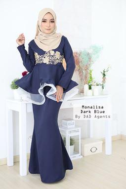 Peplum Monalisa Dark Blue