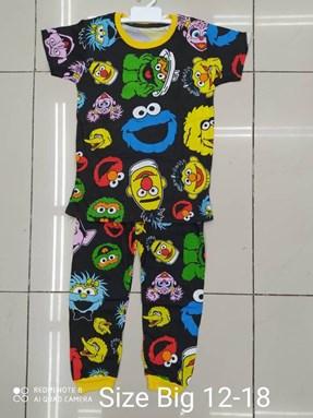 Pyjamas SESAME STREET BLACK EDITION:  Big Size 12 -18