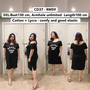 CD37 *Ready Stock *Bust 51 inch/ 130cm