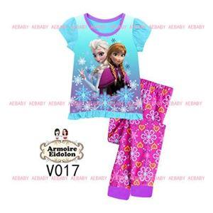 A&E Pyjamas - Frozen Anna & Elsa - Blue (2-7y)
