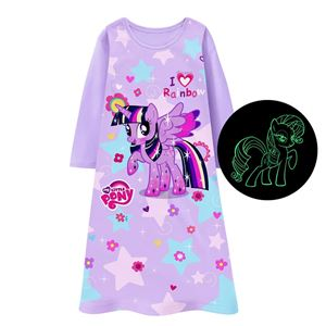 GIRLS PONY NIGHT GOWN GLOW IN THE DARK