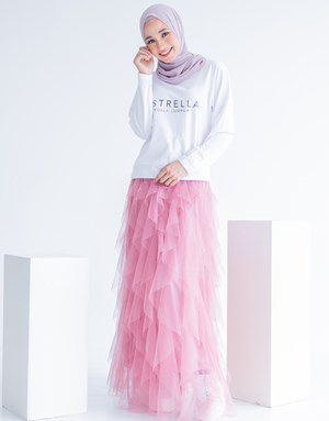 STELLA TULLE SKIRT IN PINK
