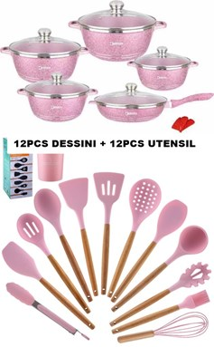 24PCS DESSINI KITCHEN - PINK