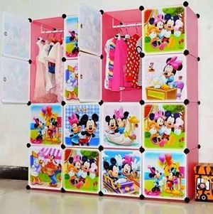 Mickey DIY 16 Cube Wardrobe