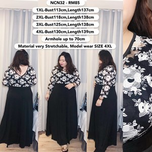 NCN32 *Ready Stock *Bust 47 to 51 inch/ 120-130cm