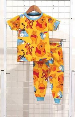 SIZE 12  BIG KIDS Pyjamas POOH AND FRIENDS YELLOW (MYSHA)