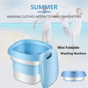 Convenient Fold Portable Sterilizing Washing Machine Mini Plug-in Underwear Special Washer Washing Tool Travel Self-driving