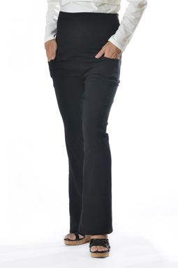 Maternity Bell Bottom Pant Mi - Black