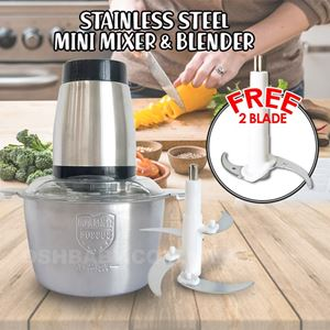 STAINLESS STEEL MINI MIXER & BLENDER