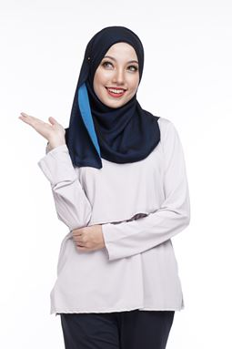 Long Sleeve Nursing Inner (Light Grey) - M HINGGA 2XL