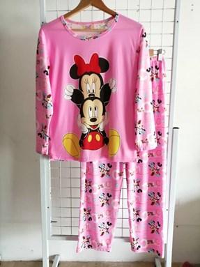 Pyjamas Dewasa Pink Mickey Minnie