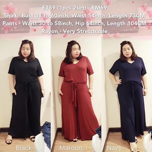 ET59 *Ready stock *Bust 38 to 60inch/97-152cm