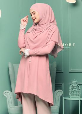 BLOUSE AMORE LACEY - ROSEGOLD