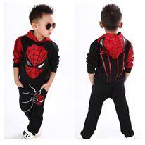 SPIDERMAN KIDS SET ( BLACK ) SIZE  100-140
