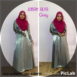 Jubah Alya Grey