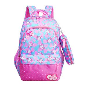 HELLO KITTY ( PINK BLUE )  Primary School Bag+Pencil Case