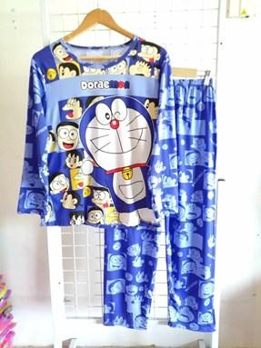Pyjamas Dewasa Blue Doraemon Friends