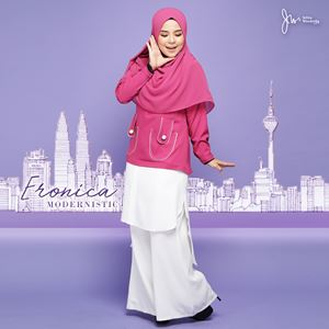ERONICA MODERNISTIC ~WHITE~ (FLORIA PINK)