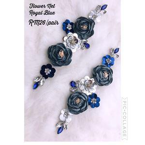 Flower Net Royal blue