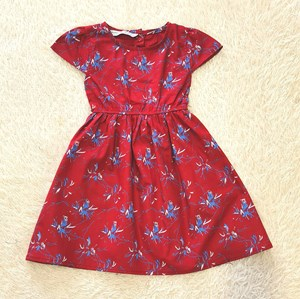 [2Y , 5Y] Baby and Kids Dress CRIMSON RED Brand KF