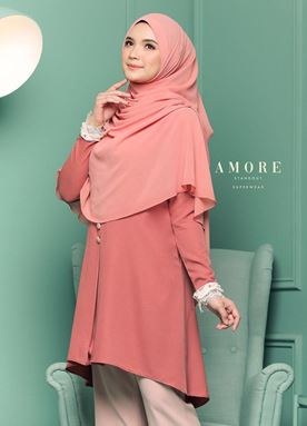 BLOUSE AMORE LACEY -  CARROT PEACH