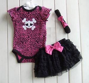 Pink Skeleton - Romper+Tutu skirt