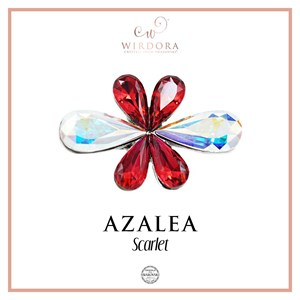 Brooch Azalea Scarlet