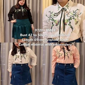9720 Ready Stock *Bust 42 to 50 inch/ 107-127cm