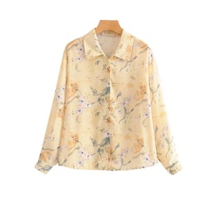 SOFT YELLOW FLORAL PRINTED TOP