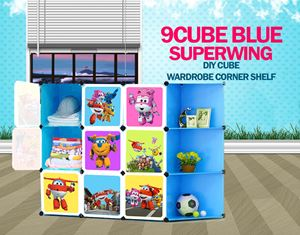 SuperWings Blue 9C DIY Cube w Corner Rack (SW9CB)